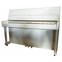 PIANO DROIT HEILMANN UP 108  blanc brillant