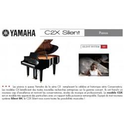 PIANO A QUEUE YAMAHA C2X SH SILENT 173cm Noir Brillant