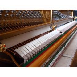 OCCASION Piano Droit C.BECHSTEIN Contur 118 Noir Poli