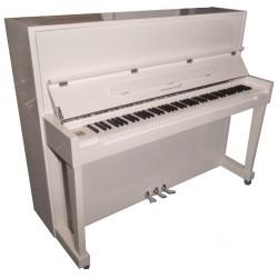 PIANO DROIT Hermann Jacobi H118 Blanc brillant / Chrome