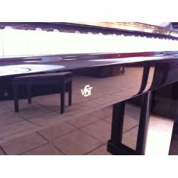 PIANO DROIT WILH.STEINBERG P-125 E Noir Brillant/Laiton