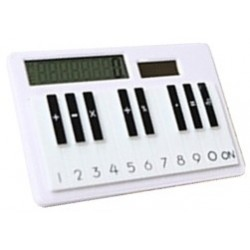 Calculatrice solaire design, touches piano