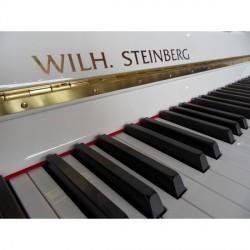 PIANO DROIT WILH.STEINBERG P-125 E Blanc Brillant