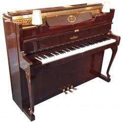 Piano Droit SCHIMMEL 112 Chippendale avec 2 lampes