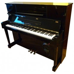 Piano Droit KAWAI KU-10 AT Anytime Noir Brillant 121cm