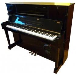 Piano Droit KAWAI KU-10 AT Anytime Noir Brillant 121cm