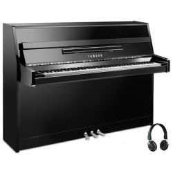 PIANO DROIT YAMAHA b1 SILENT SG2 109cm Noir brillant édition ARGENT
