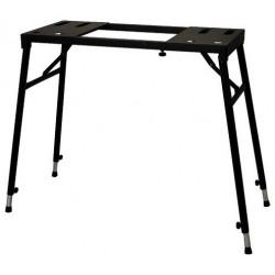 Stand pliable noir pour piano numérique et clavier portable / pieds réglables individuellement / grande stabilité