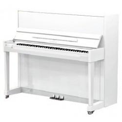 PIANO DROIT SAMICK 118 Harmonie Blanc brillant / Chrome 1m18