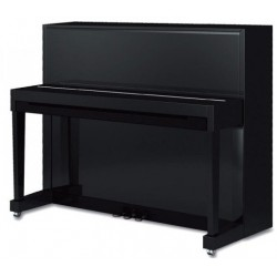 PIANO DROIT SAMICK 118 Harmonie Noir brillant / Chrome 1m18