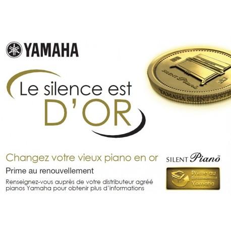 Prime au renouvellement YAMAHA 2014 : Le silence est d'Or