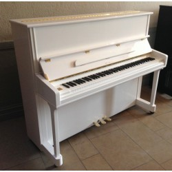 PIANO DROIT SAMICK JS-121 MD Blanc Brillant
