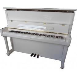 PIANO DROIT WILH.STEINBERG P-118 Blanc Brillant