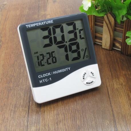 Hygrometre électronique HTC-2 Température, Heure, Taux d'hygromètrie.