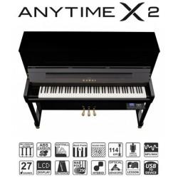 PIANO DROIT KAWAI K-200 ATX2 114cm Noir Brillant