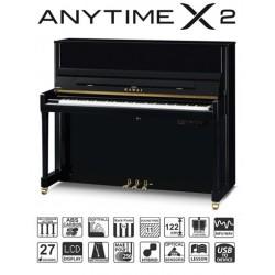 PIANO DROIT KAWAI K-300 ATX2 122cm Noir Brillant