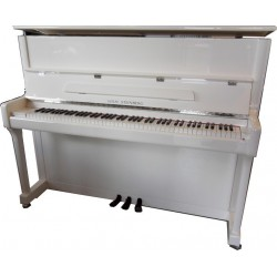 PIANO DROIT WILH. STEINBERG P-118  Blanc brillant/Chrome