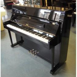Piano droit ROSLER, modèle 113, finition noir brillant