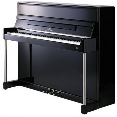 PIANO DROIT SEILER 116 Clou Trend-Line Noir Brillant