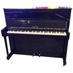 Piano Droit SAUTER 122 Carus Noir Poli *RECENT*
