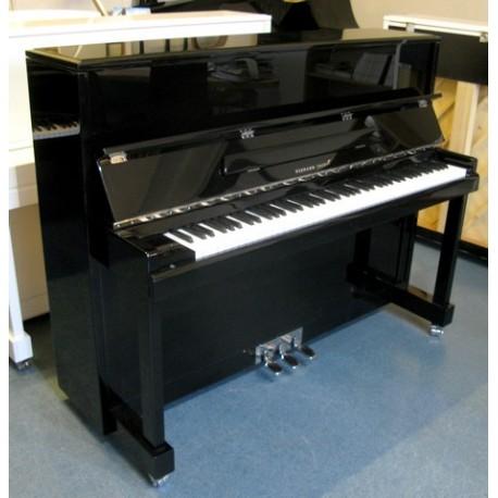 PIANO DROIT Hermann Jacobi 118 Noir edition Argent