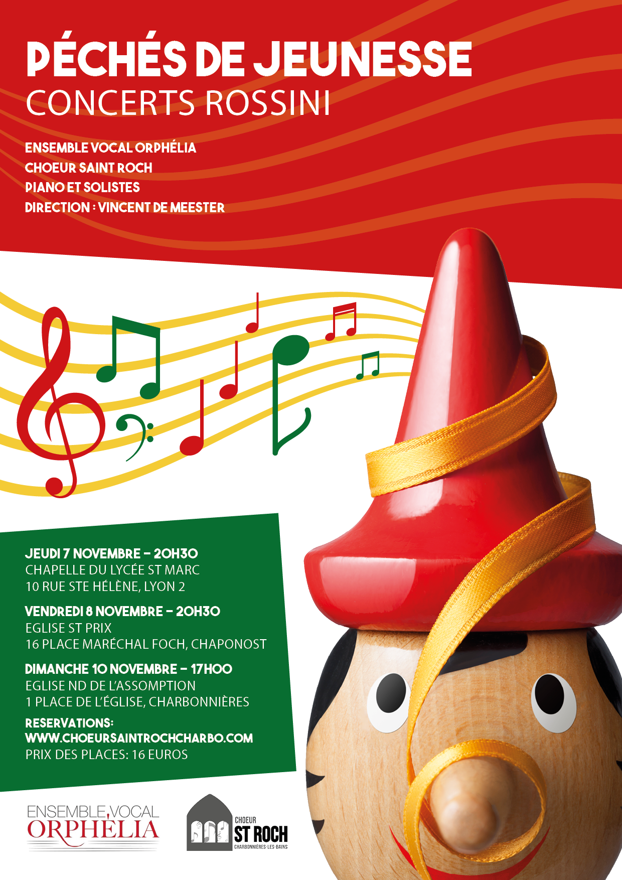 Concert ROSSINI à Charbonnières, Chaponost et Lyon 2ème